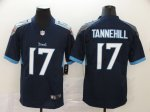 2020 New Football Tennessee Titans #17 Ryan Tannehill Navy Vapor Untouchable Limited Jersey