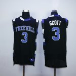 one tree hill ravens #3 lucas scott black stitched basketball je