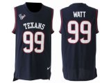 Men's Nike Houston Texans #99 J.J. Watt Navy Blue Team Color Stitched NFL Limited Tank Top Jersey