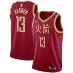 Basketball Houston Rockets #13 James Harden Red 2018 - 19 Swingman City Edition Jersey