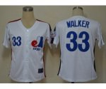 mlb montreal expos #33 walker m&n white jerseys