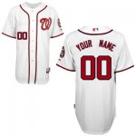 customize mlb washington nationals jersey white 2011 home cool b