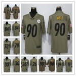 Football Pittsburgh Steelers All Players Option Olive 2017 Salute to Service Limited Jersey