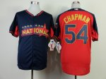 mlb cincinnati reds #54 chapman blue-red [2014 all star jerseys]