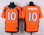 nike denver broncos #10 sanders orange elite jerseys