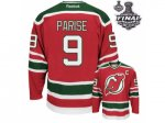 nhl new jersey devils #9 parise red and green [2012 stanley cup]