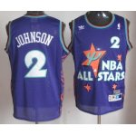 nba 95 all star #2 johnson purple jerseys