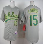Athletics #15 Brett Lawrie Grey Cool Base Stitched MLB Jersey