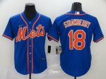 Men's New York Mets #18 Darryl Strawberry Blue 2020 Stitched Baseball Jersey