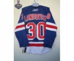 nhl new york rangers #30 lundqvist blue [2014 stanley cup]