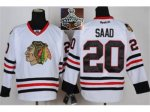 NHL Chicago Blackhawks #20 Saad white 2015 Stanley Cup Champions