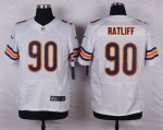 nike chicago bears #90 ratliff white elite jerseys