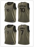 Basketball Toronto Raptors All Players Option Swingman Green Salute to Service Jersey