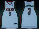 nba milwaukee bucks #3 brandon jennings white [revolution 30 swi