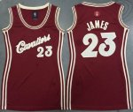 women nba cleveland cavaliers #23 lebron james red 2015-2016 chr