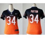 nike women nfl chicago bears #34 walter payton blue-orange [elit