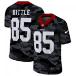 Custom Football San Francisco 49ers #85 George Kittle Stitched 2020 Camo Salute to Service Limited Jersey