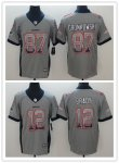 Football New England Patriots Stitched Grey Drift Fashion Limited Jersey