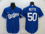 Men's Los Angeles Dodgers #50 Mookie Betts Roaly 2020 Stitched Baseball Jerseys