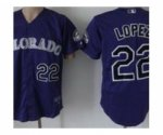 mlb colorado rockies #22 lopez purple jerseys