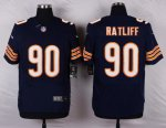 nike chicago bears #90 ratliff blue elite jerseys