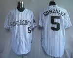 Baseball Jerseys colorado rockies #5 gonzalez white