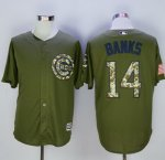 mlb chicago cubs #14 ernie banks green camo new cool base jerseys