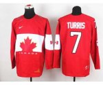 nhl team canada #7 turris red [2014 world championship]
