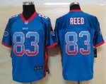 nike nfl buffalo bills #83 reed blue [elite drift fashion]