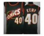 nba seattle supersonics #40 kemp green [revolution 30 throwback]