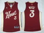 nba miami heat #3 dwyane wade red 2016 new jerseys [Christmas Da