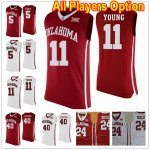 Oklahoma Sooners All Players Option Color Red And Color White College Basketball Jerseys 拷贝