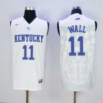 nike kentucky wildcats #11 wall white jerseys