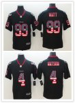 Football Houston Texans Stitched Black USA Flag Rush Limited Jersey