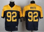 nike nfl green bay packers #92 white yellow and blue limited jerseys