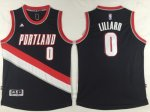 Men's NBA Portland Trail Blazers #0 Damian Lillard Black Stitched Road Swingman Jerseys