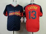 mlb chicago cubs #13 castro blue-red [2014 all star jerseys]