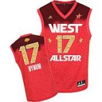Los Angeles Lakers 17 Andrew Bynum All-Star 2012 Western red jer