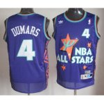 nba 95 all star #4 dumars purple jerseys