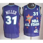 nba 95 all star #31 miller purple jerseys