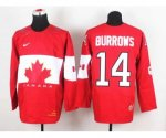 nhl team canada #14 burrows red [2014 world championship][burrow