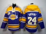 nba los angeles lakers #24 kobe bryant yellow-purple [pullover h