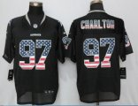 Men NFL Dallas Cowboys #97 Taco Charlton Nike Black 2017 Draft Pick USA Flag Fashion Elite Jerseys
