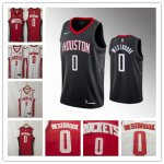 Men's Houston Rockets #0 Russell Westbrook 2019 Stitched Basketball Jersey