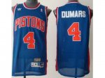 nba detroit pistons #4 joe dumars throwback blue jerseys