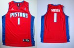nba detroit pistons #1 iverson red [swingman] cheap jerseys