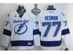 NHL Tampa Bay Lightning #77 Victor Hedman White 2015 Stanley Cup
