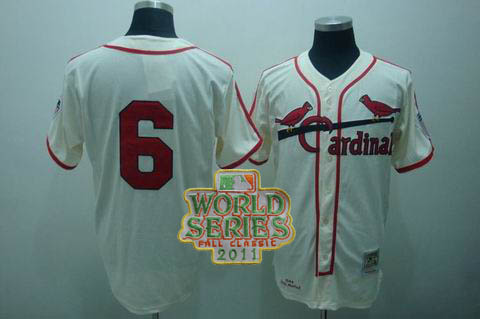 mlb st.louis cardinals #6 musial m&n cream