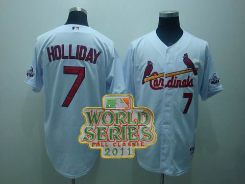 mlb st.louis cardinals #7 holliday white(2009 all star game patc
